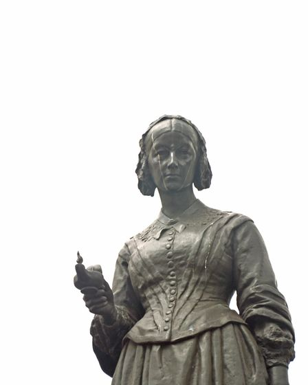 Statue of Florence Nightingale in London's Waterloo Place Photo: William Gibson