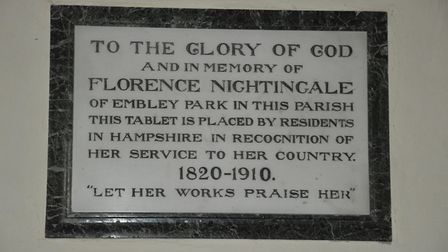 Memorial Tablet in St Margarets Church, East Wellow Photo: William Gibson