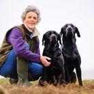 Tracey Kavanagh with her dogs Tor (left) and Rea (right)