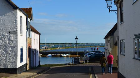 Looking down Emsworth's South Street towards the harbour Photo: Theo Andrae
