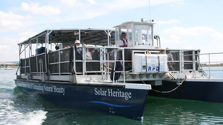Solar Heritage with Chris Harvey at the wheel Photo: Chichester Harbour Conservancy