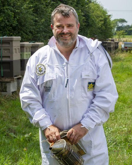 John Geden uses beekeeping to help others. He runs an over-subscribed beekeeping course for ex-servi