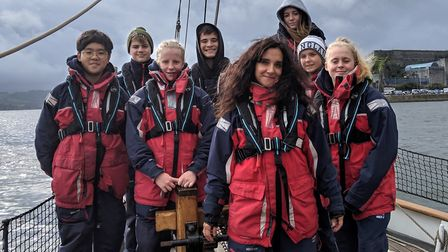 Pupils have the opportunity to try offshore sailing aboard the School's boat 'Olga'