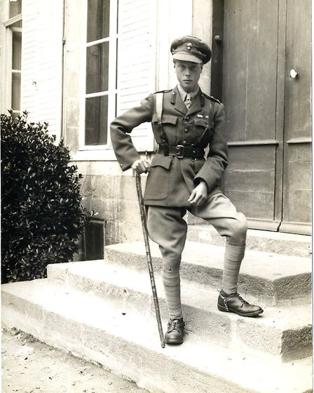 Edward VIII as Prince of Wales during WW1, Merville (France), 8th August 1915, by H.D. Girdwood (col