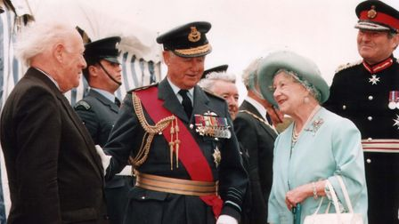 Page meeting the Queen Mother