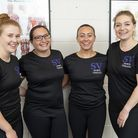 Sophie, 2nd from the right, with some of the SV Sports Therapy team