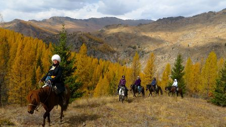 Katy leading from the front as Morindoo guests get to experience the wonder of Mongolia