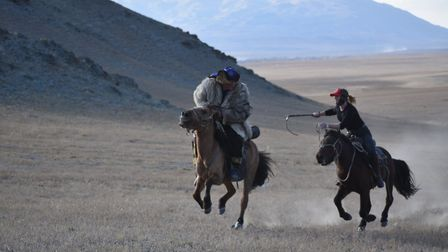 Riding horses in Mongolia has given Katy a new holistic view of how to ride and work with the animal