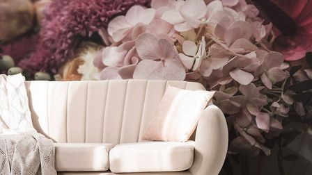 Dusty Pink Floral mural, from £29/m2, wallsauce.com