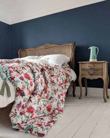 Paradise Garden quilted floral bedspread, 148, frenchbedroomcompany.co.uk