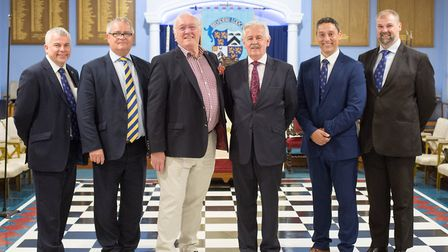 Peter Rhodes (charity manager), Richard Wingett (assistant head of East Kent Freemasons), David Alex