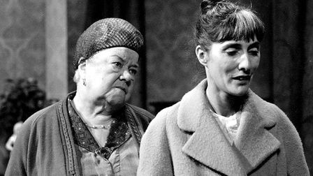 In Coronation Street, June played Mrs Parsons in 1970 and again in 1971. She is pictured with Weathe