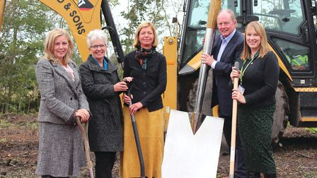 Ground breaking ceremony last October at the new Maggies Merseyside Centre, Clatterbridge, which the