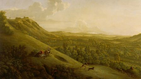 Box Hill, Surrey, with Dorking in the distance by George Lambert in 1733 (c) Yale Center for British