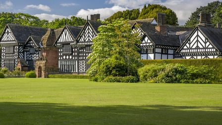 A view of the south front at Speke Hall. Photo Andrew Butler, National Trust Images