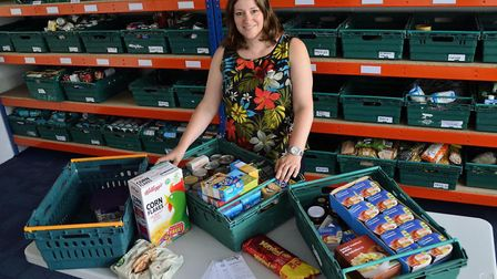 Heather, project manager at Epping Forest Foodbank