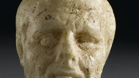 Carved in fine Italian marble, this head on display at RAMM in Exeter is only 7cm high and may have