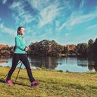 Nordic walking is one form of exercise you do anywhere