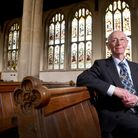 David Hamand is an expert on the stained glass inside Holy Trinity Church, Long Melford. Picture: