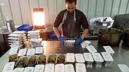 Honest Crusts Tom Britton boxes up much-needed meals for those in need in the city