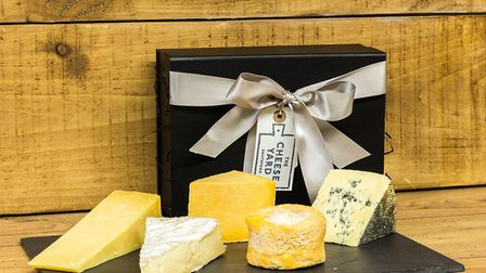 A gift set with 5 different cheeses from The Cheese Yard