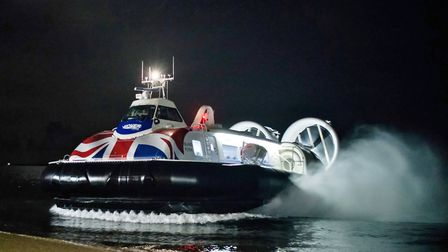 Winter travel with the Solent Flyer Photo: Hovertravel