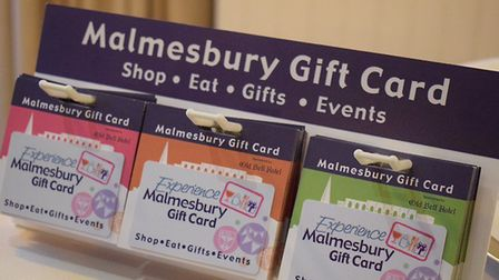 Malmesbury gift cards on display (photo: Tracy Spiers)