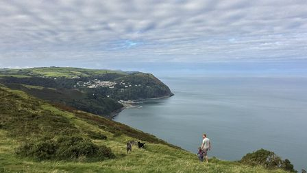 Walking the dogs over Countisbury, Exmoor. Photograph Tor McIntosh/South West Coast Oath Association