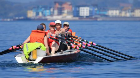 Exmouth Rowing Club members out on the water. Photo: Tom Hurley