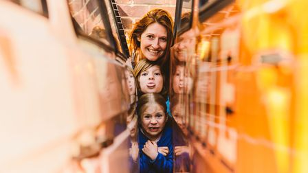 Photographer Ailsa Bee with her daughters Poppy, 9, and Iris, 6