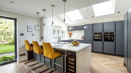 Lots of space and light are key to success and both boxes are ticked in this Cheshire kitchen
