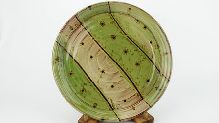 A Devonshire slipware platter by Russell Kingston from Lynmouth. Photo: Russell Kingston
