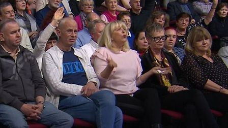 An audience member on Question Time calls for government to close all the borders. Photograph: BBC.