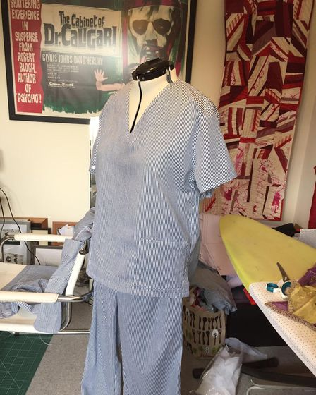 The Barn Theatre scrubs, made by Bridget Griffiths