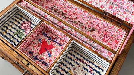 Antique boxes are given new life by Emily Gore. Photo: Emily Gore