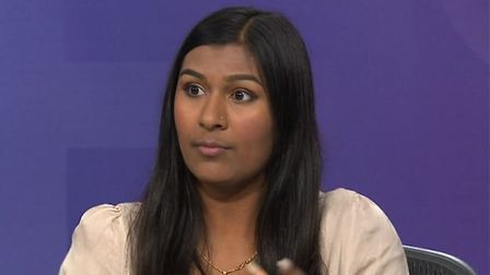 Ash Sarkar respond to the point raised by the Question Time audience member. Photograph: BBC.