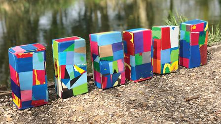 The blocks are bold and bright, and each one is unique