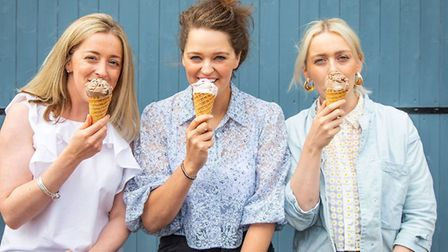 The sisters who make it happen, Kitty Hill, Cleo Sadler and Hannah Goodwin. Picture by Daniel Callen