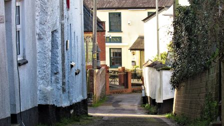 Historic Parsonage Lane leads straight to The Lamb in Silverton. Photo: Simone Stanbrook-Byrne
