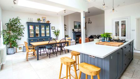 Uniting three rooms has created Annie's dream kitchen-diner-living space
