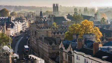 Aerial view of the Oxford city