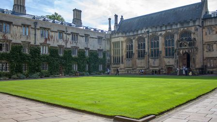 The quadrangle, Exeter College, Oxford, where Tolkien was an undergraduate