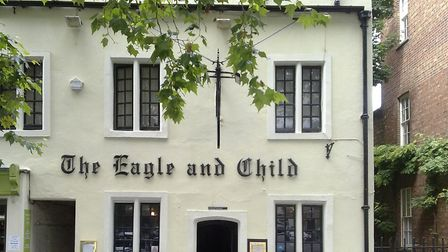The Eagle and Child pub, St Giles' Street, Oxford, where the Inklings met from the early-1930s to la