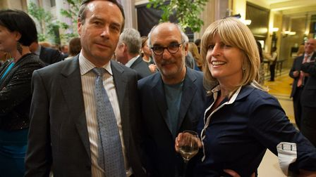 Lionel Barber, Alan Yentob and Rachel Johnson at the Financial Times Summer Party 2014