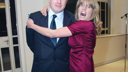 Rachel and Boris Johnson at a signing session for her new book 'Shire Hell', London, 2008 (photo: WE