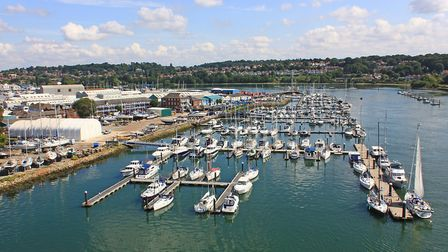 Shamrock Quay on the River Itchen in Southampton is named after the J-class yacht Shamrock V which w