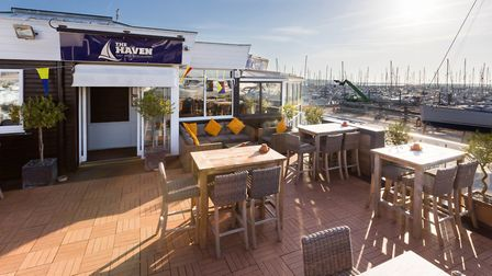 The upper terrace at The Haven is a popular spot for diners
