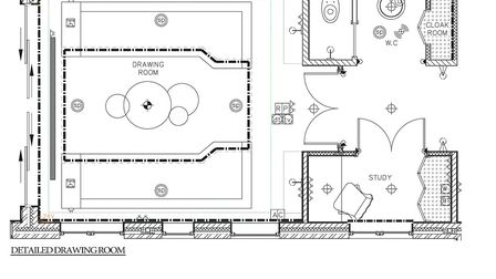 The mechanical and electrical plan for the drawing room ensures that the house will deliver the luxu