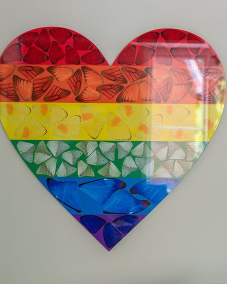 This charity rainbow edition by artists Damian Hirst was created during the Covid crisis to raise f