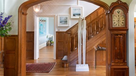 A sculpture by artist Bettina Seitz is a statuesque feature in the entrance hall Photo: Andy Newbold